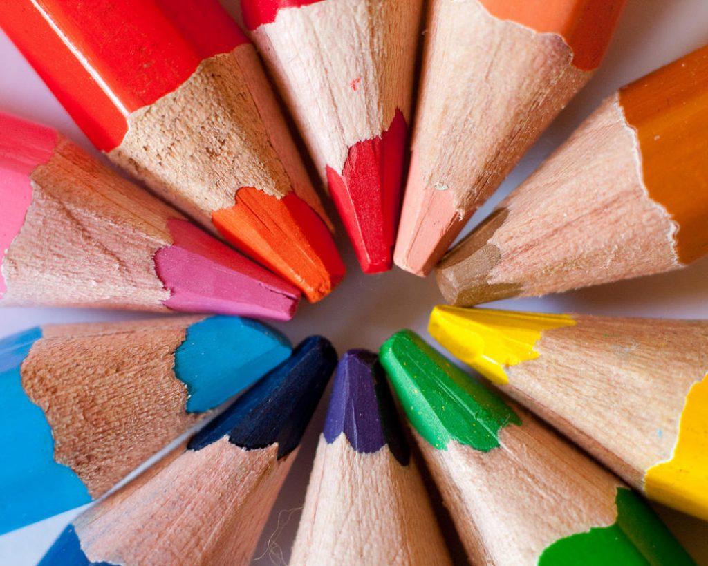 colored pencil star
