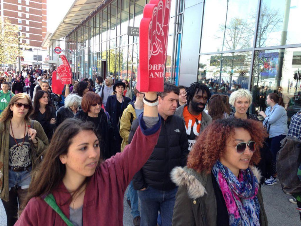 young adult protestors
