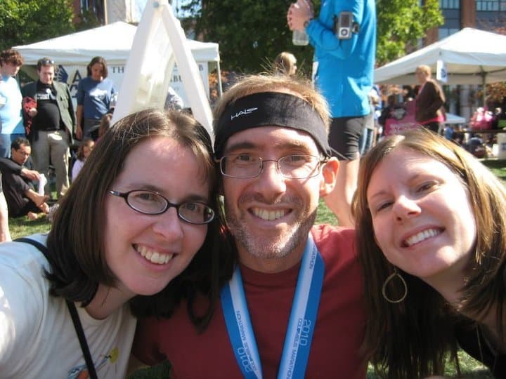 Jen, Dave, and Sherry after the marathon