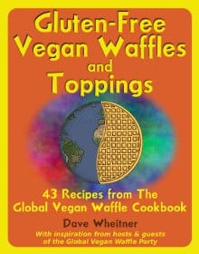 gluten-free vegan waffles and toppings book cover