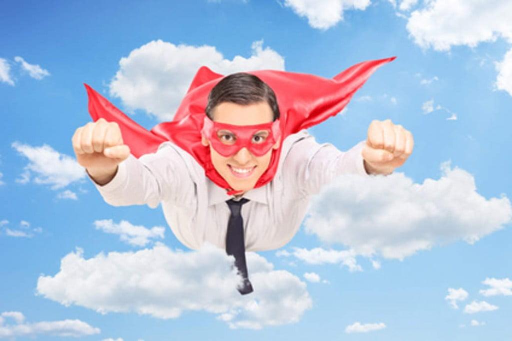 white male superhero
