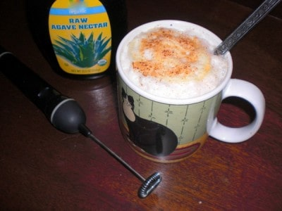 Hot Cocoa with Vegan Drink Froth