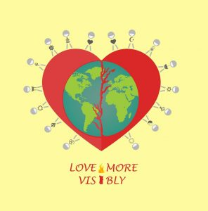 Love More Visibly logo by Eeecole Copen