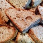 sourdough bread crumb interior closeup